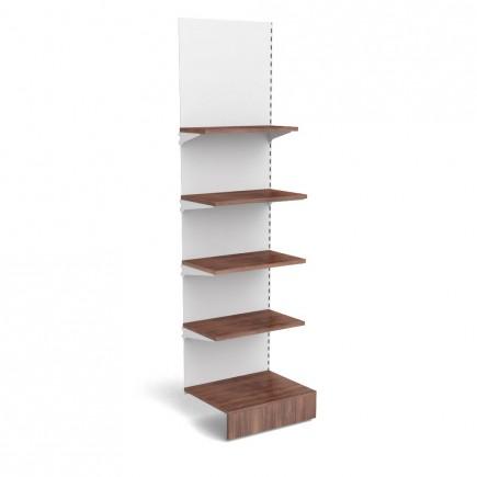 Anbauregal mit Holzfachböden B 665mm