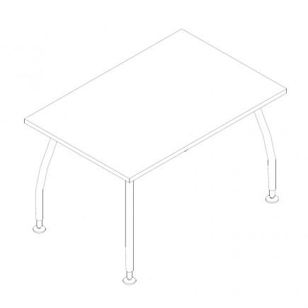 Schreibtisch Alf, B1200, T800