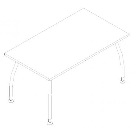 Schreibtisch Alf, B1400, T800