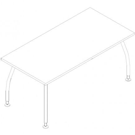 Schreibtisch Alf, B1600, T800