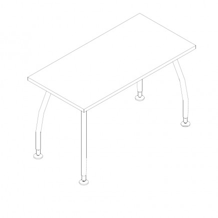 Schreibtisch Alf, B1200, T600