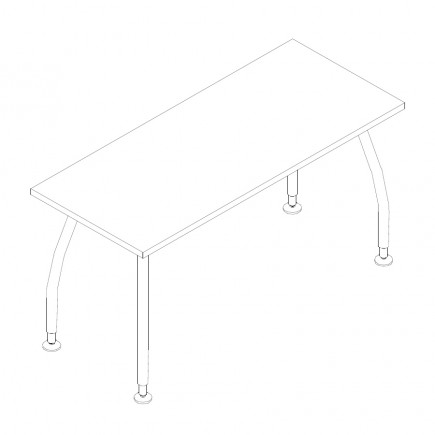 Schreibtisch Alf, B1400, T600