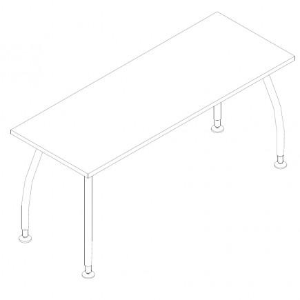 Schreibtisch Alf, B1600, T600