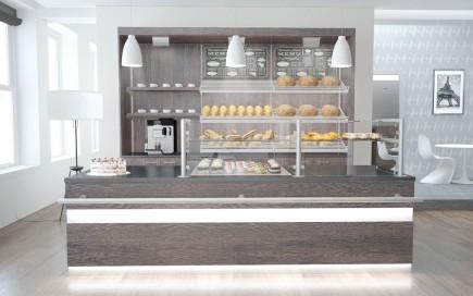 Bäckereieinrichtung mit Rückbuffet