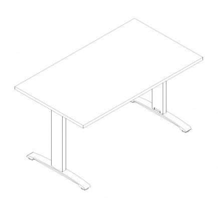 Schreibtisch Ergo, B1400