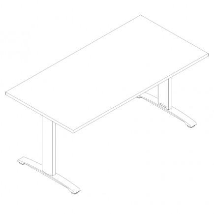 Schreibtisch Ergo, B1600