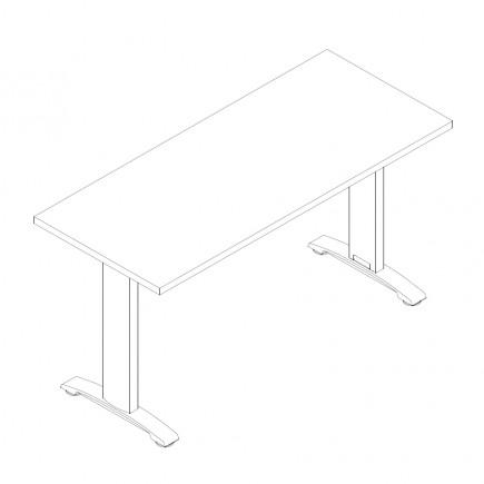 Schreibtisch Ergo, 1400x600