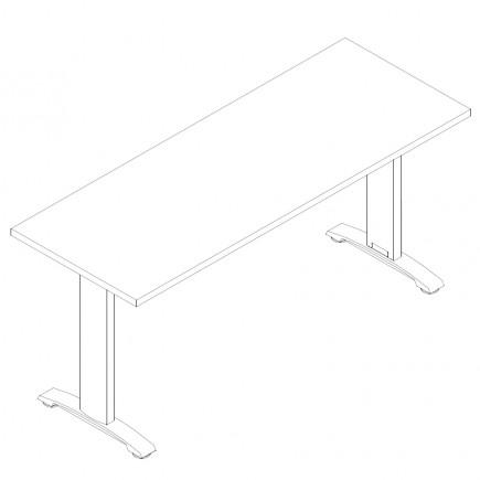 Schreibtisch Ergo, 1600x600
