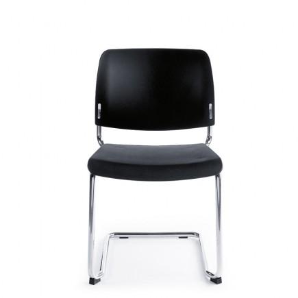 Konferenzstuhl Bit 550V Freischwinger, Sitz and Rückenlehne aus Kunststoff, stapelbar