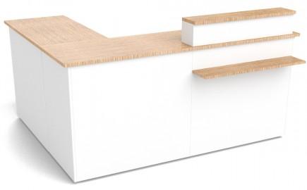 Theke im Winkel L-Form 2140 / 1740mm