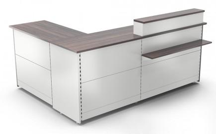 Verkaufstheke Standardsystem im Winkel L-Form 2390 / 1740mm
