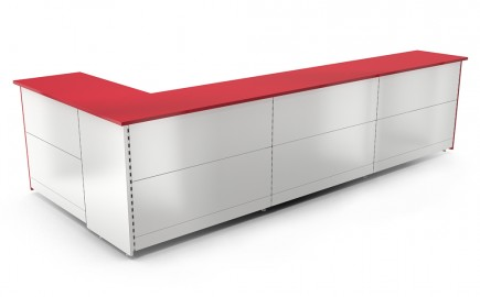 Theke Standardsystem im Winkel L-Form 3890 / 1740mm
