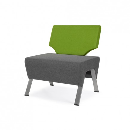 Design 1-er Sitzbank UpDown, mit Rückenlehne hoch