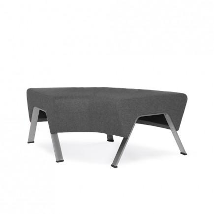 Design Sitzbank UpDown, im Bogen ohne Rückenlehne