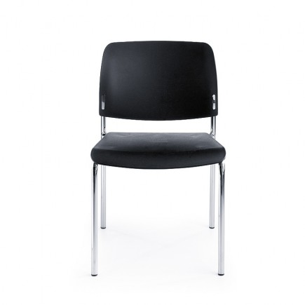 Konferenzstuhl Bit 550H 4-Fuß, Sitz and Rückenlehne aus Kunststoff, opt. Armlehnen, stapelbar