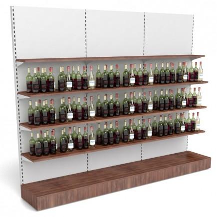 Getränkeregal mit Holzfachböden B 3000mm