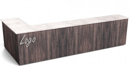Verkaufstheke im Winkel L-Form 3890 / 1740mm