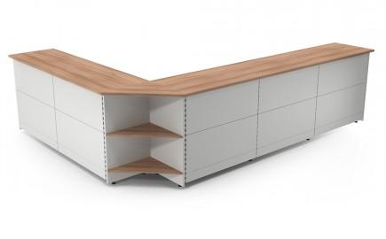 Theke Standardsystem im Außenwinkel L-Form 3670 / 2670mm