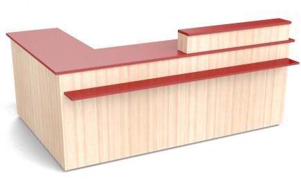 Winkeltheke in L-Form 2640 / 1740mm
