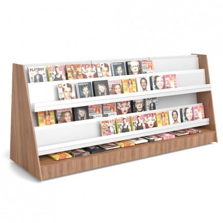 Gondel Holzverkleidet mit Zeitschriftenböden B 3000mm