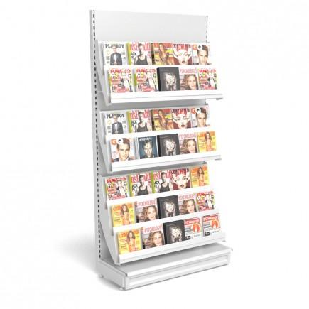 Zeitschriftenregal mit Metallrückwand B 1250mm