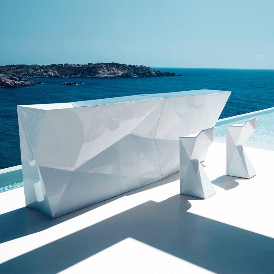 Design Bartheken Modul FAZ, B1890mm gerade mit Eiswürfelbehä