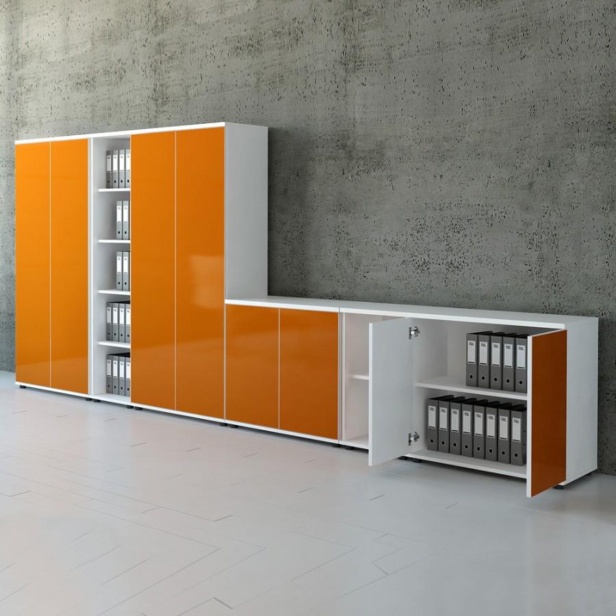 sideboard mit glast ren 3oh. Black Bedroom Furniture Sets. Home Design Ideas