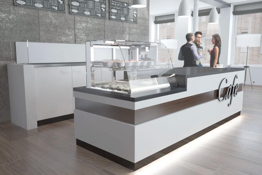 Cafe Bistroeinrichtung Mit Kuhlung Und Ruckbuffet