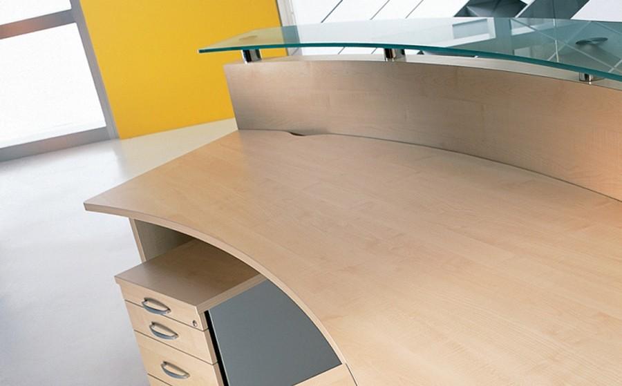 empfangstheke carolina im bogen. Black Bedroom Furniture Sets. Home Design Ideas