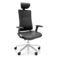 Bürostuhl Violle 131SFL mit Synchronmechanik, Sitztiefen- & Neigeeinstellung, Kopfstütze