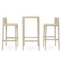 SPRITZ Set Tisch + Stühle H970, stapelbar