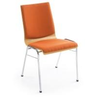 Besucherstuhl Ligo K33H 4-Fuß, Rückenlehne und Sitzauflage gepolstert, stapelbar