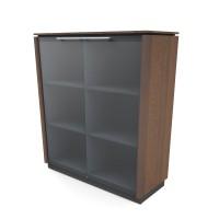 Glas Bürosideboard Static, 3OH