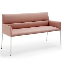 Cafebank Sitzbank CHIC AIR B20H mit 4-Fuß Metallgestell und Armlehnen