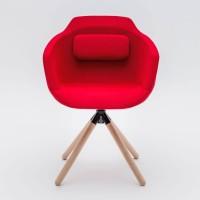 Design Besuchersessel Ultra P9 mit Holzgestell