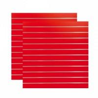 Lamellenwand 2-teilig, Dekor Rot