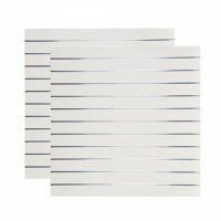 Lamellenwand 2-teilig, Dekor Weiß hochglanz