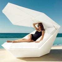 Luxus Sonnenliege FAZ Daybed, mit Sonnenschirm