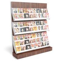 Zeitschriftenregal mit Holzrückwand B 2000mm