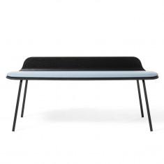 2-Sitzer Sitzbank Kendra mit 4-Fuß niedrige Rückenlehne