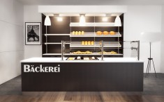 Bäckerei Einrichtung mit Rückbuffet Regal