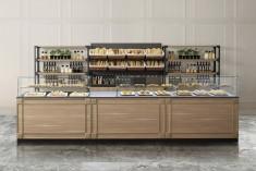 Bäckerei Einrichtung Theke mit Regal
