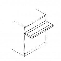 Tablettrutsche für BCL Thekenmodule, Breite 750mm