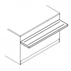 Tablettrutsche für BCL Thekenmodule, Breite 1500mm