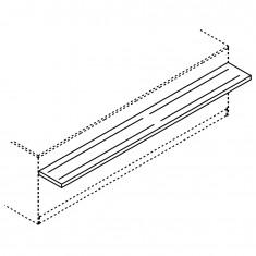 Tablettrutsche für BCL Thekenmodule, Breite 3000mm
