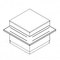 Tablettrutsche für BCL Theken Eckmodule, 1000x1000mm
