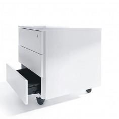 Rollcontainer, 3-Fach, Weiß