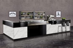 Café Einrichtung EasyDeluxe in Marmoroptik