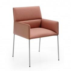 Cafe-Sessel CHIC AIR C20H mit 4-Fuß Metallgestell und Armlehnen