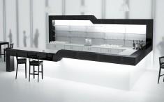 Cafeeinrichtung LUXUR V2 mit LED-Beleuchtung